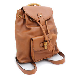 GUCCI Gucci Bamboo 003.170.5.0030 backpack daypack leather brown women [pre]