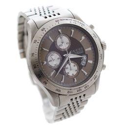 GUCCI グッチ Gタイムレス 126.2 YA126213 腕時計 ライトブラウン文字盤 自動巻き シルバー メンズ【中古】
