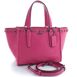 COACH Coach Floral Dahlia 2way 37707 Handbag Leather Pink Ladies [Pre]