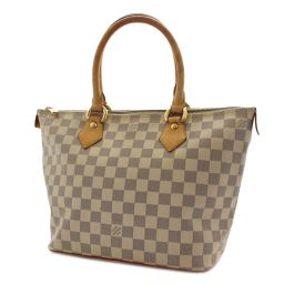 LOUIS VUITTON Louis Vuitton Saleya PM Damier Azur N51186 Handbag Damier Azur Canvas / Leather Ivory Blue Ladies [pre-owned]