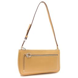 Salvatore Ferragamo Salvatore Ferragamo Accessory Pouch Ganchini 21-4315 Handbag Leather Beige Women's [pre]