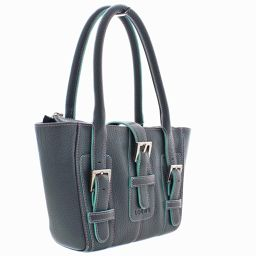 LOEWE Loewe Mini Handbag Leather Blue Green Ladies [Used]