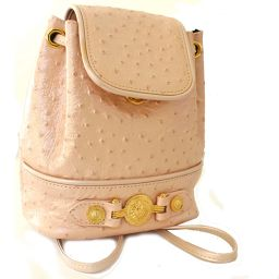 VERSACE Versace mini chain backpack daypack leather pink women [pre]