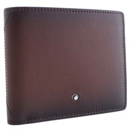 MONTBLANC Montblanc Folded Wallet Leather Dark Brown Men [Used]