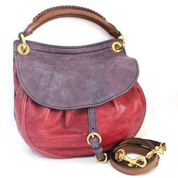 MIUMIU Miu Miu 2way Handbag Leather Purple Ladies [Used]