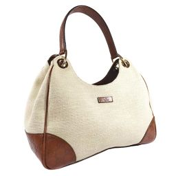 GUCCI Gucci Gucci Shima Shoulder Shoulder Bag 257265 Handbag Canvas / Leather Beige Brown Ladies [Used]