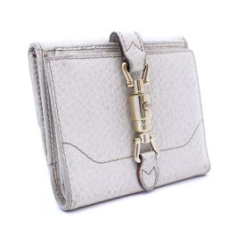 GUCCI Gucci New Jack W hook 141439 two-fold wallet leather ivory ladies [pre]