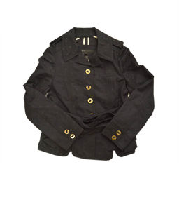 MARC JACOBS Marc Jacobs Short Dot Outer Trench Coat Cotton / Rayon / Cotton 67% Rayon 33% Black Women [Pre]