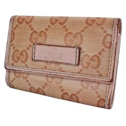 GUCCI Gucci GG coated canvas 6 series 203574 key case PVC / leather pink women [pre]