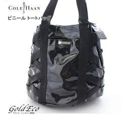 Colehaan【コールハーン】ビニール トートバッグ ハンドバッグ B27793 キャンバスブラック ブルー シルバー金具