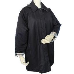 BURBERRY Burberry tartan check long sleeve down jacket polyester black beige unisex [pre]