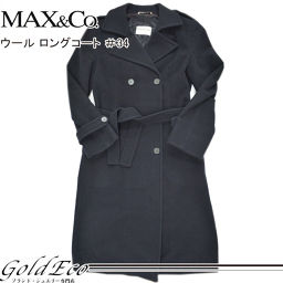 Max & Co. 【Max and Co】 Wool Women Long Coat 34 Outer Coat Cold Black Black 【Used】