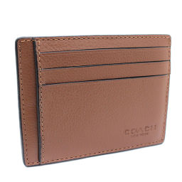COACH Coach F75022 Card Case Leather Brown Ladies [Pre]