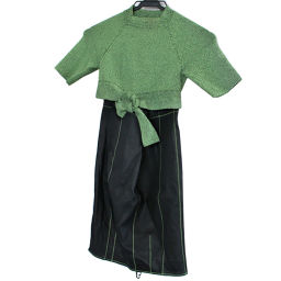 Alexander Wang Alexander One Short Length Tops & Leather Skirt Set Up Polyurethane Green Black Women [Pre]