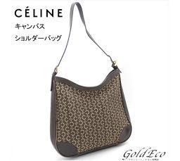CELINE [Celine] shoulder bag Brown leather canvas brown brown brown shoulder bag