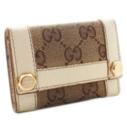 GUCCI Gucci GG canvas 6 series 154164 key case canvas / leather Brown Ivory Women [pre-owned]