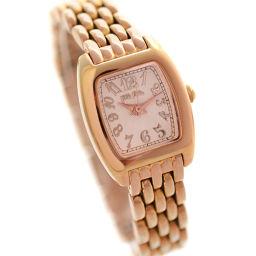 Folli Follie フォリフォリ WF5R143BP 腕時計 ピンクギョーシェ文字盤 クオーツ ピンクゴールド シルバー レディース【中古】