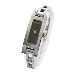 GUCCI グッチ ブレスウォッチ 3900L 腕時計 ブラック文字盤 クオーツ シルバー レディース【中古】