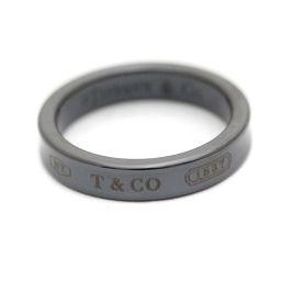 TIFFANY&Co. ティファニー 1837 リング・指輪 チタン アクセサリー 14号 ブラック ユニセックス【中古】