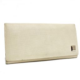 GUCCI Gucci Folded Logo 2184 Long Wallet PVC Ivory Women [Pre]