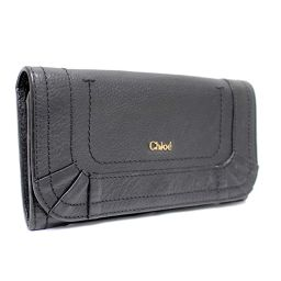Chloe Chloe Folded Purse Leather Black Ladies [Pre]
