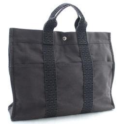 HERMES Hermes ale line tote bag MM tote bag canvas gray women [pre]