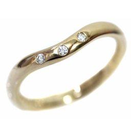TIFFANY&Co. ティファニー 3Pダイヤモンド バンドリング エルサ・ペレッティ リング・指輪 K18イエローゴールド 3.5号 ゴールド レディース【中古】