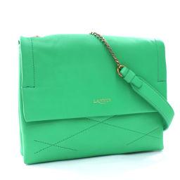 LANVIN Lanvin Chain Shoulder Bag Leather Green Ladies [Used]