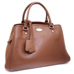 COACH Coach Handbag Cross Grain Leather Cariole F34607 Handbag Leather Brown Ladies [Pre]