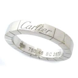 CARTIER カルティエ WG ラニエール リング・指輪 K18ゴールド ジュエリー 6号 ホワイトゴールド レディース【中古】