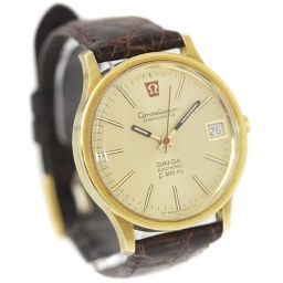 OMEGA Omega Constellation Electronic Tuning Fork Watch Gold Dial Brown Mens [Pre]