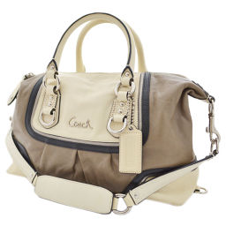 COACH Coach 2WAY Ashley Spectator Satchel F17455 Handbag Leather Creme Ladies [Pre]