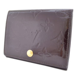LOUIS VUITTON Louis Vuitton ヴ ェ ン ロ ッ プ ロ ・ ・ カ ル ト ド ゥ ー ジ ジ ッ ト ッ ト M91409 Card Case Monogram Vernis Bordeaux Unisex [pre]