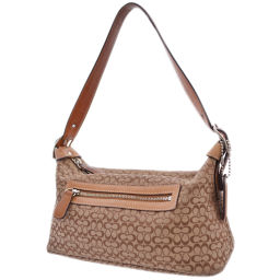 COACH Coach Accessory Pouch Mini Signature 6332 Shoulder Bag Canvas / Leather Brown Women [Pre]