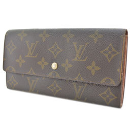 LOUIS VUITTON Louis Vuitton Portofeil Sarah Folded Old M61734 Purse Monogram Canvas Brown Unisex [pre]