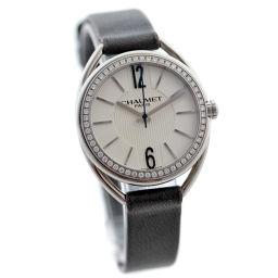 Chaumet ショーメ リアン ダイヤベゼル W23211-01A 腕時計 ホワイト文字盤 クオーツ シルバー グレー レディース【中古】