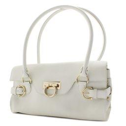 Salvatore Ferragamo Salvatore Ferragamo Gancini 21 4862 Shoulder bag leather off white ladies 【pre-owned】