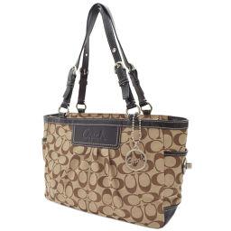 COACH coach signature F14281 shoulder bag canvas / leather beige ladies 【pre-owned】