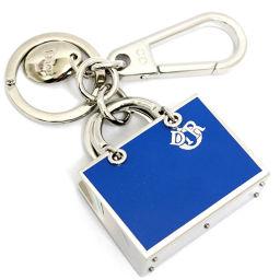 Christian Dior Christian Dior Bag Motif Charm Key Holder Metal Blue Silver Women's [pre]