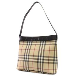 BURBERRY Burberry Nova Check Shoulder Bag Nylon / Leather Beige Black Women [Pre]