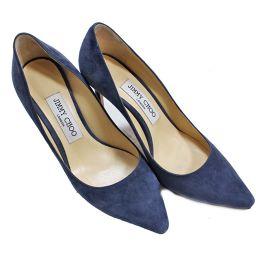 JIMMY CHOO pin heel pumps suede / suede navy ladies [pre-owned]