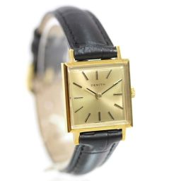 ZENITH antique wristwatch gold dial manual winding black gold ladies [pre-owned]