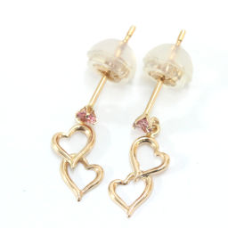 Samantha Tiara Samantha Tiara Heart Earrings K18 Pink Gold Jewelry Gold Ladies [Pre]