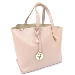 Furla Furla Logo Handbag Leather Pink Ladies [Used]