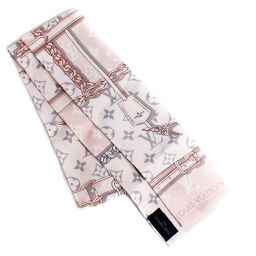 LOUIS VUITTON Louis Vuitton Bando Monogram Confidential M70637 Scarf Silk Pink Ladies [Used]