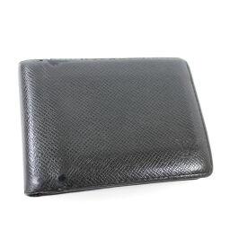 LOUIS VUITTON ルイ ヴィトン ポルト ビエ 3ヴォレ  M30422 二つ折り財布 タイガ ブラック メンズ【中古】