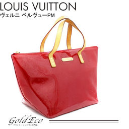 LOUIS VUITTON 【Louis Vuitton】 Vernis Bellevue PM Tote Bag M93583 Pomme Damall Red Red LOUIS VUITTON