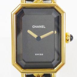 CHANEL シャネル H0001 プルミエール M ブラック×ゴールド QZ レディース 腕時計【中古】