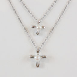 TASAKI TASAKI Tasaki Shingu double-cross SV925 pearl double necklace [washed / second-hand goods]