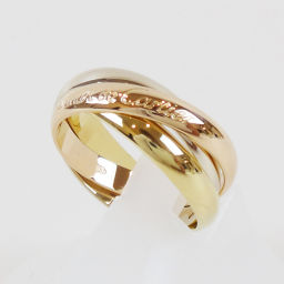 CARTIER Cartier Three color K18 PG × WG × YG Trinity ring # 53 (Japan size approx 1